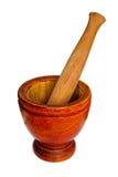 Almofariz de madeira Foto de Stock Royalty Free