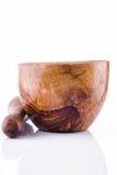 Almofariz de madeira Imagem de Stock Royalty Free