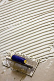 Almofariz do branco da telha cerâmica Fotografia de Stock
