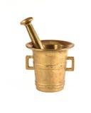 Almofariz e pilão de bronze Fotografia de Stock