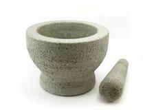 Almofariz e pilão de pedra Imagem de Stock Royalty Free