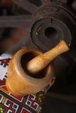 Almofariz e pilão tradicionais Fotos de Stock