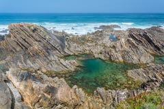 Almograve wybrzeże, Portugalia Obrazy Stock