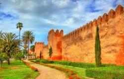 Almohad city wall of Rabat, Morocco. Almohad city wall of Rabat, the capital of Morocco stock photography