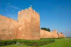 Almohad city walls of Rabat, Morocco. Almohad city walls of medina of Rabat, Morocco. North Africa royalty free stock photography