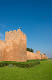 Almohad city walls of Rabat, Morocco. Almohad city walls of medina of Rabat, Morocco. North Africa stock photography