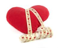 Almohada como corazón Fotografía de archivo libre de regalías