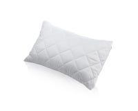 Almohada con la caja protectora blanca de la almohada del ácaro Fotos de archivo libres de regalías
