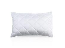 Almohada con la caja protectora blanca de la almohada del ácaro Fotografía de archivo libre de regalías