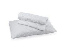 Almohada con la caja protectora blanca de la almohada del ácaro Fotografía de archivo