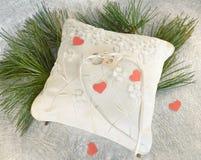 Almohada de la boda Imágenes de archivo libres de regalías