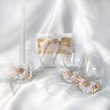 Almohada del anillo de bodas Foto de archivo