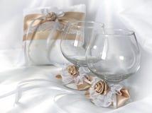Almohada del anillo de bodas Fotos de archivo libres de regalías