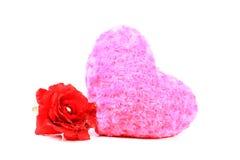 Almohada del corazón Foto de archivo