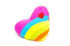 Almohada del corazón aislada en el fondo blanco Imagen de archivo libre de regalías