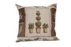 Almohada hermosa con la tapicería Fotos de archivo