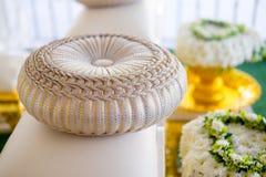 Almohada redonda para casarse Foto de archivo