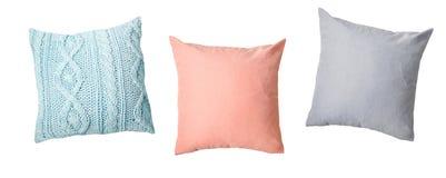 Almohadas fijadas, decoración casera aislada fotografía de archivo libre de regalías