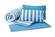 Almohadas y manta Foto de archivo libre de regalías