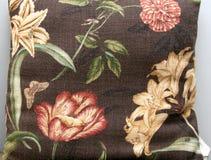 Almohadilla de la impresión de la flor de la vendimia Foto de archivo