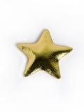 Almohadilla de oro de la estrella Fotos de archivo