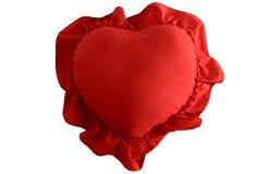 Almohadilla en forma de corazón. Imagenes de archivo