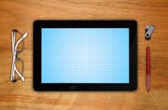 Almohadilla táctil con la pantalla en blanco Imagenes de archivo