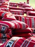 Almohadillas coloridas árabes Fotos de archivo libres de regalías