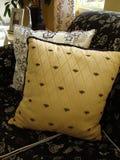 Almohadillas en el sofá Imágenes de archivo libres de regalías