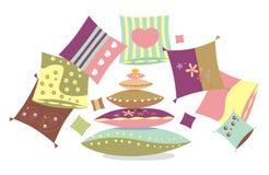 Almohadillas multicoloras Fotos de archivo libres de regalías