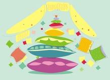 Almohadillas multicoloras Fotografía de archivo libre de regalías