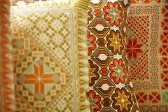 Almohadillas árabes de seda Fotografía de archivo