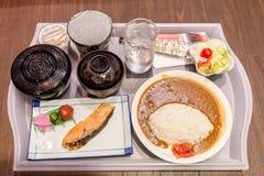 Almon giapponese del riso di curry Fotografia Stock Libera da Diritti