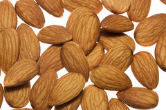 Almond. Several almond nuts isolated with white Royalty Free Stock Images