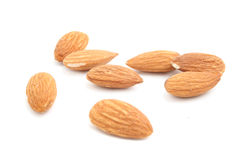 Almond. Fresh almond isolated on white Stock Image