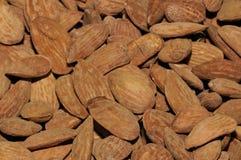 Almond. Peeled Almond. Closeup. Brown Texture Royalty Free Stock Photos