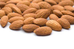 Almond. Of the white back Stock Image