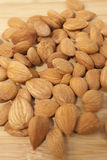 Almond. Nuts close up background Stock Photo