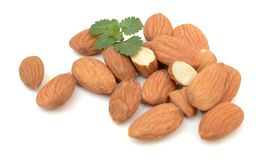 Almond. Nut isolated. Nuts, fruit Royalty Free Stock Photos