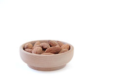 Almond. S on isolated white background Royalty Free Stock Images