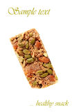 Almond apricot granola bar Stock Photos