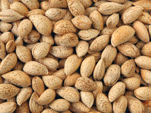 Almond background Stock Photo