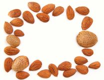 Almond background Stock Images