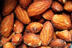 almond background Royalty Free Stock Image