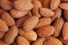 Almond background. Close-up almond background. See my other works in portfolio Stock Photos