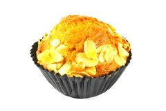 Almond Banana Cupcake Royalty Free Stock Images