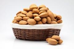Almond basket Royalty Free Stock Photo