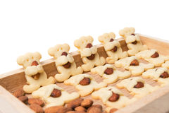 Almond bear cookies isolated on white. Background Stock Images