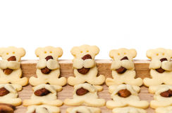 Almond bear cookies isolated on white. With clipping path Stock Photos