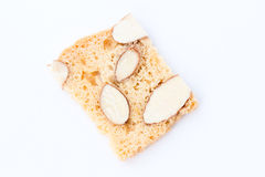 Almond biscotti cookie Royalty Free Stock Photo